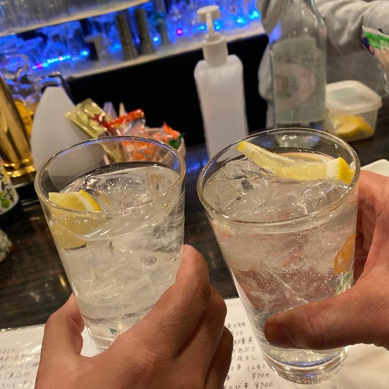 飲み処andキッチン ほのじぐみ 秋田県秋田市南通 レモンサワー 乾杯