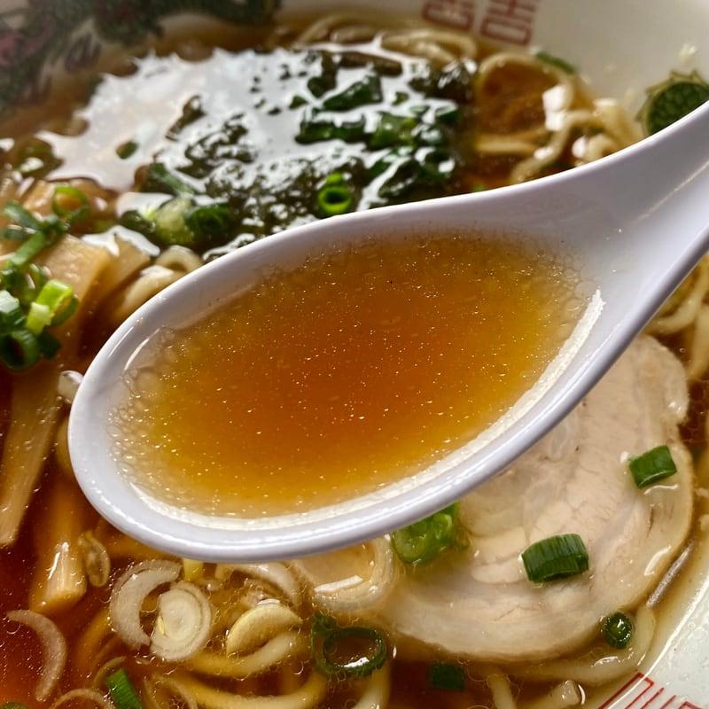 麺屋はまやま 居酒屋はまやま 浜山食堂 秋田県にかほ市象潟町 ラーメンハーフ 半醤油ラーメン スープ