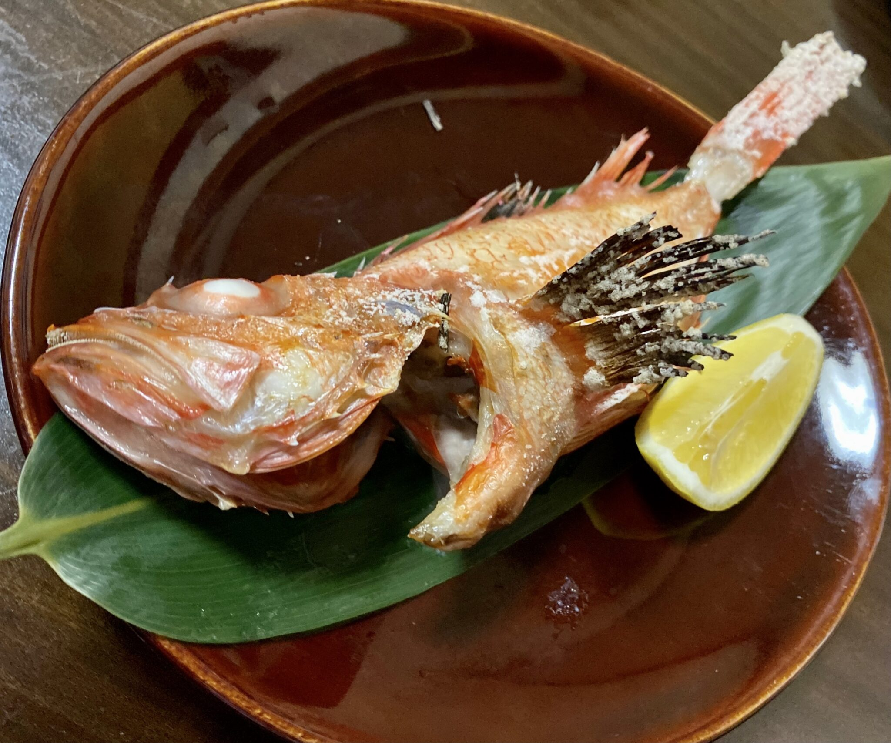 ビストロ桜舞 おうぶ 秋田県湯沢市柳町 キンキの塩焼き