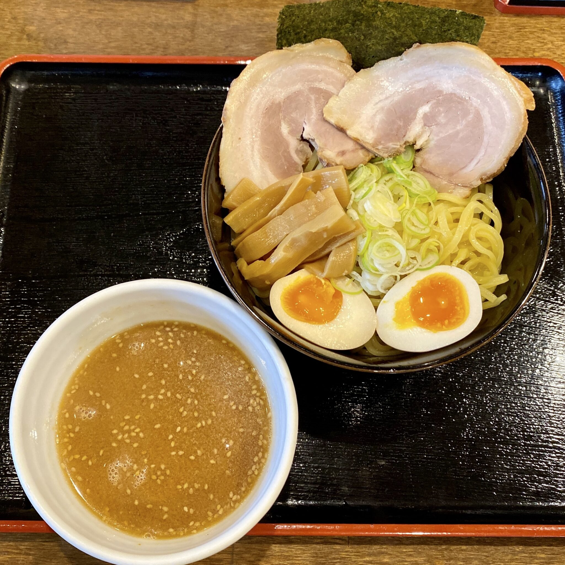 ドライブイン虎屋 とらや 秋田県大館市岩瀬 虎屋味玉チャーシューつけ麺 特製味噌つけめん