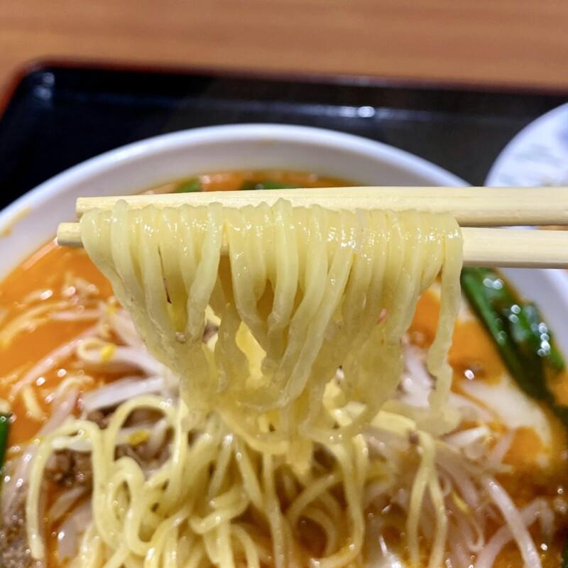 台湾料理 六順園 大曲店 秋田県大仙市大曲住吉町 豚骨台湾ラーメン 麺