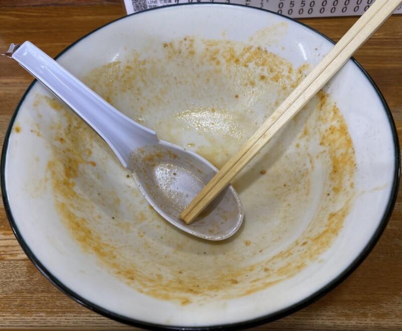 中華そば 琴の こんの 山形県鶴岡市羽黒町黒瀬 担々麺 完食