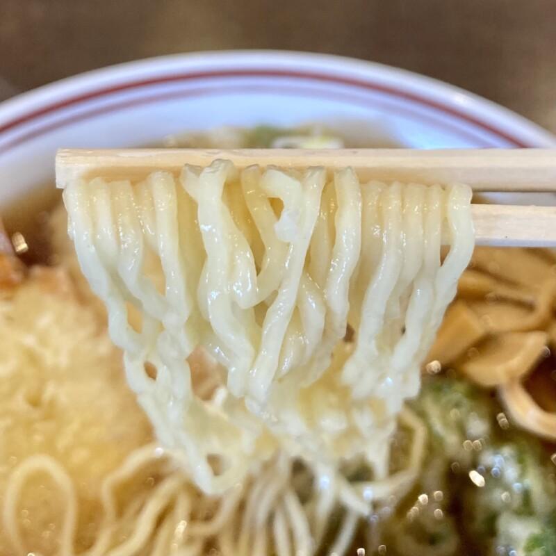 お食事みその 食堂みその 山形県鶴岡市みどり町 天ぷらラーメン 麺