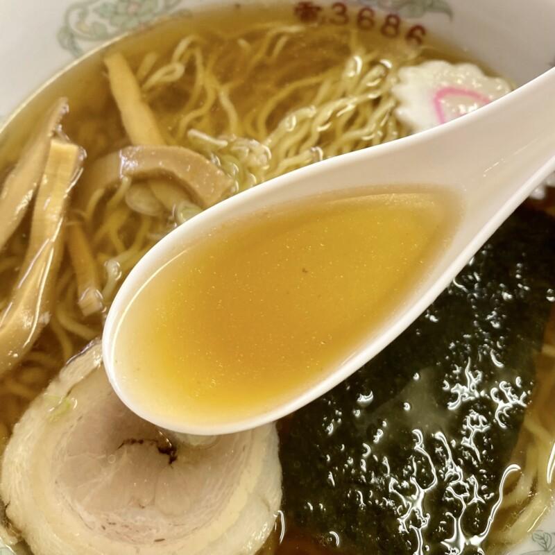 お食事処 ひのや 秋田県大仙市神宮寺 醤油ラーメン スープ