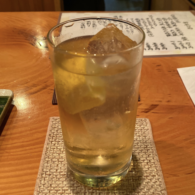 日本料理たかむら 秋田県秋田市大町 たかむら麺type2 冷やし坦々麺 緑茶割り