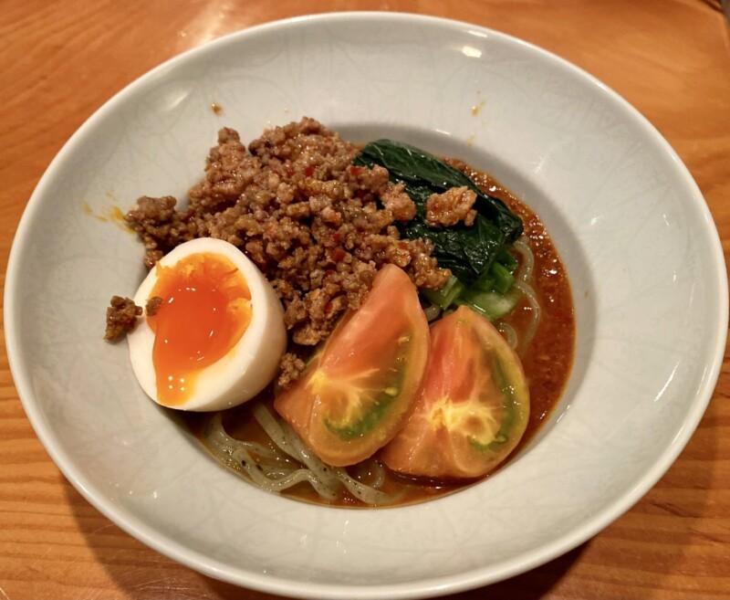 日本料理たかむら 秋田県秋田市大町 たかむら麺type2 冷やし坦々麺