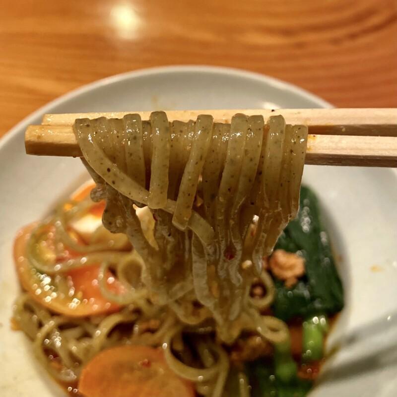 日本料理たかむら 秋田県秋田市大町 たかむら麺type2 冷やし坦々麺の麺