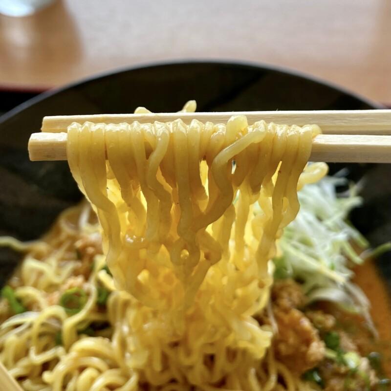 レストラン眺海(ちょうかい)@秋田県にかほ市象潟町 道の駅象潟 ねむの丘2F 冷やし坦々麺 麺