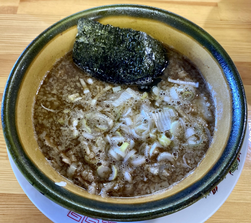 らーめん萬亀 ばんき 秋田県秋田市山王新町 つけめん つけ麺 あっさり塩 つけ汁 スープ