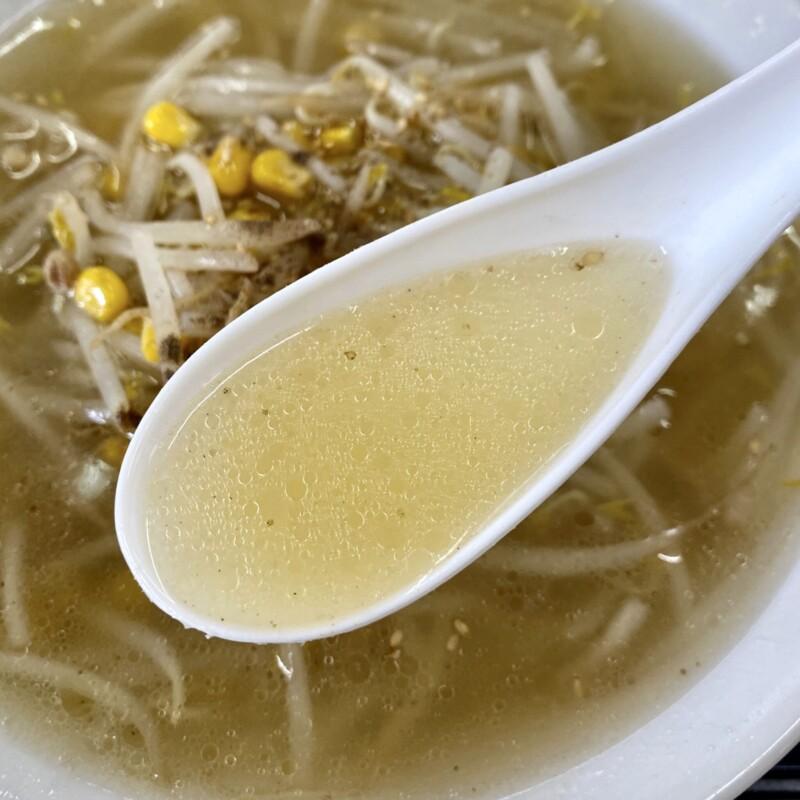 食堂平和 平和食堂 秋田県鹿角市花輪 もやしラーメン 塩ラーメン スープ