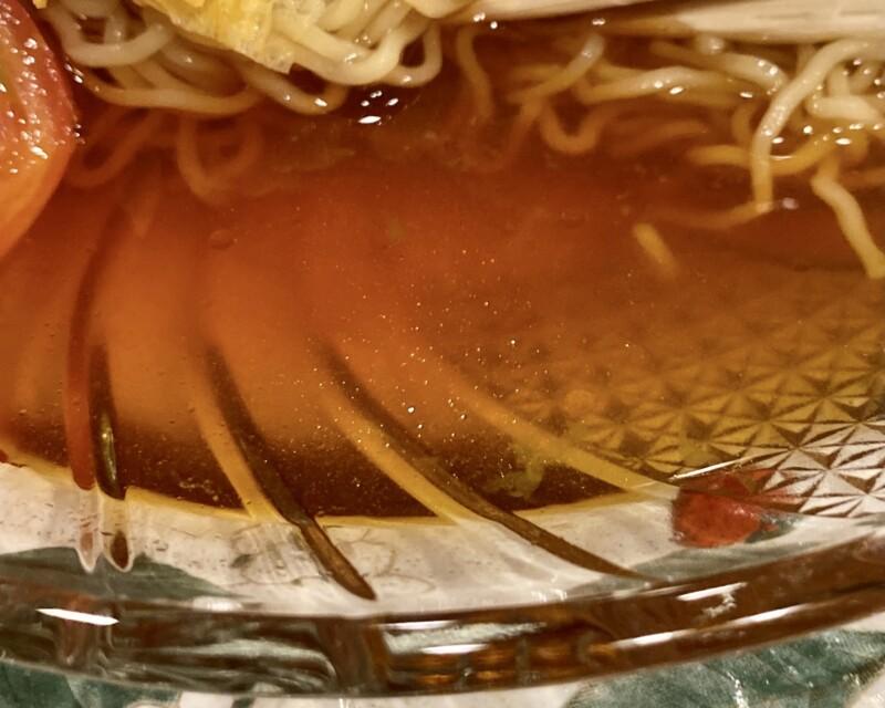 喫茶 詩仙 スナック 炭火焼やきとり 秋田県秋田市中通 冷し中華麺 冷やし中華めん タレ