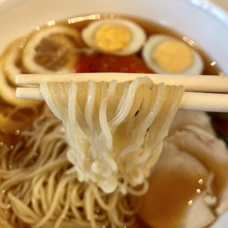 喫茶と軽食 ベル 秋田県能代市柳町 プラザ都内 冷製ラーメン 麺