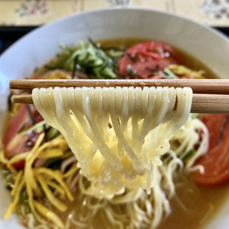 新鮮館食堂 秋田県由利本荘市雪車町 新鮮館107内 冷し中華 麺