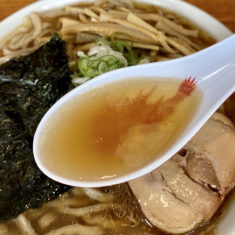 ラーメン金子 山形県山形市飯田 中華そば スープ