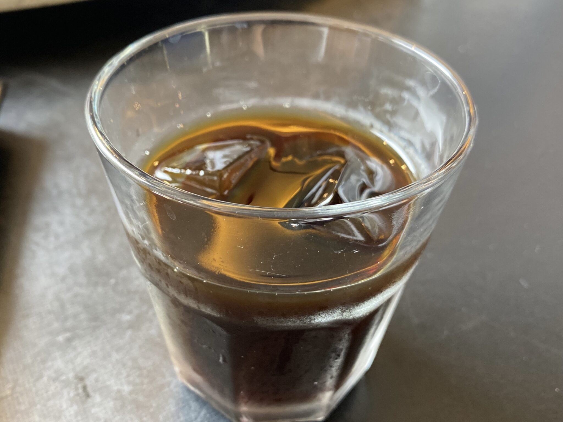 中国四川料理 石林 シーリン 福島県福島市本町 汁無し担担麺 汁なし担々麺 アイスコーヒー