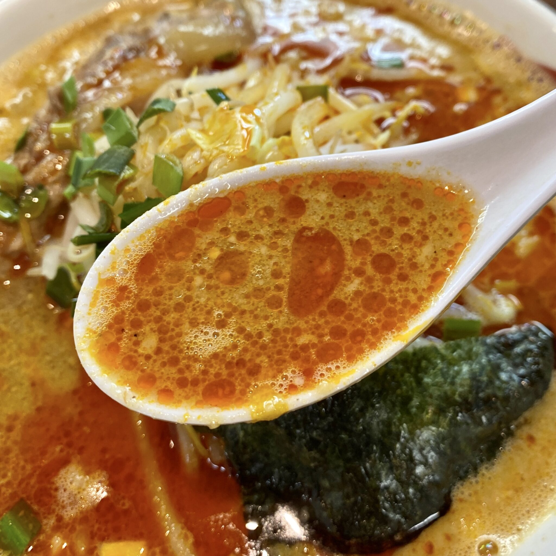 支那そば 正月屋 福島県郡山市桑野 コク辛そば スープ