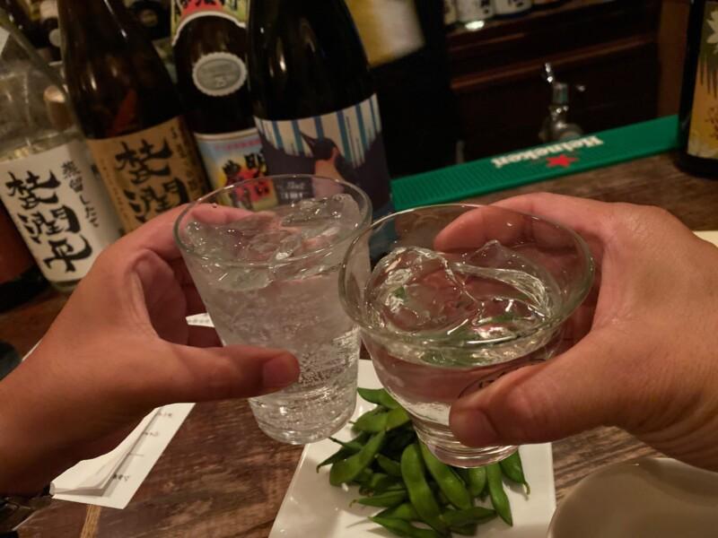BAR JAH ジャー 秋田県秋田市大町 芋焼酎 ロック 乾杯