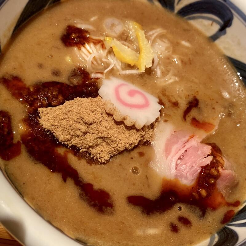 麺の極はなみち 岩手県盛岡市前九年 辛鰹つけ麺 具